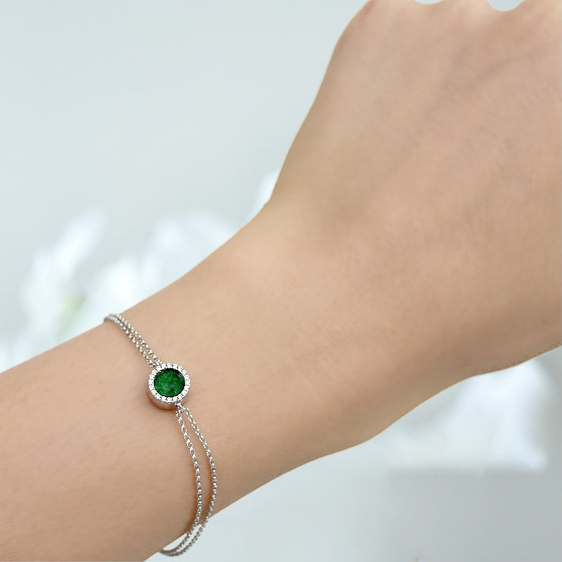 ETERNITY 緣 Bracelet in Green Jade
