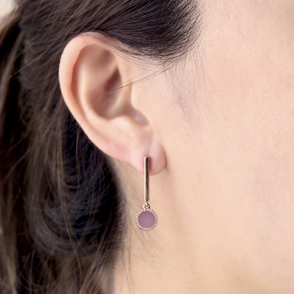 ETERNITY 緣 Dangling Earrings in Lavender Jade