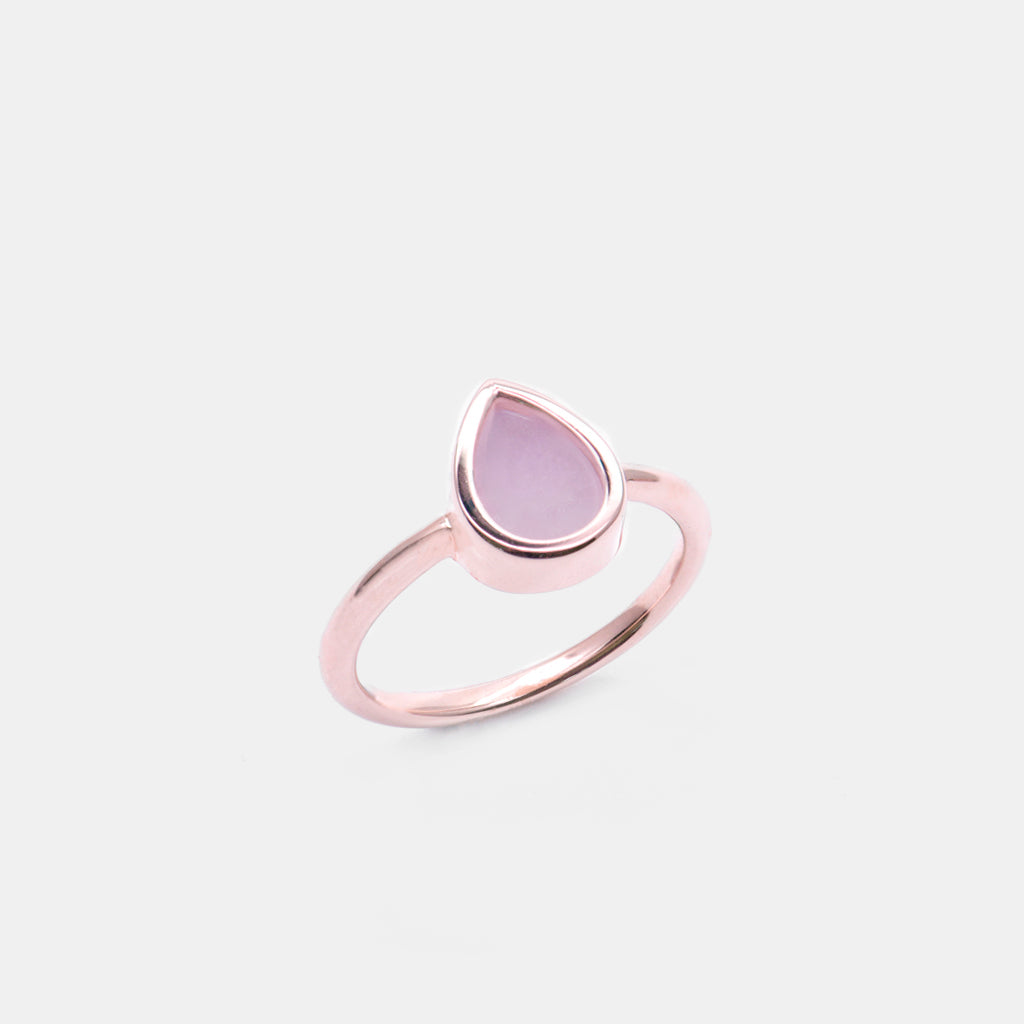 AQUA 水 Small Ring in Lavender Jade
