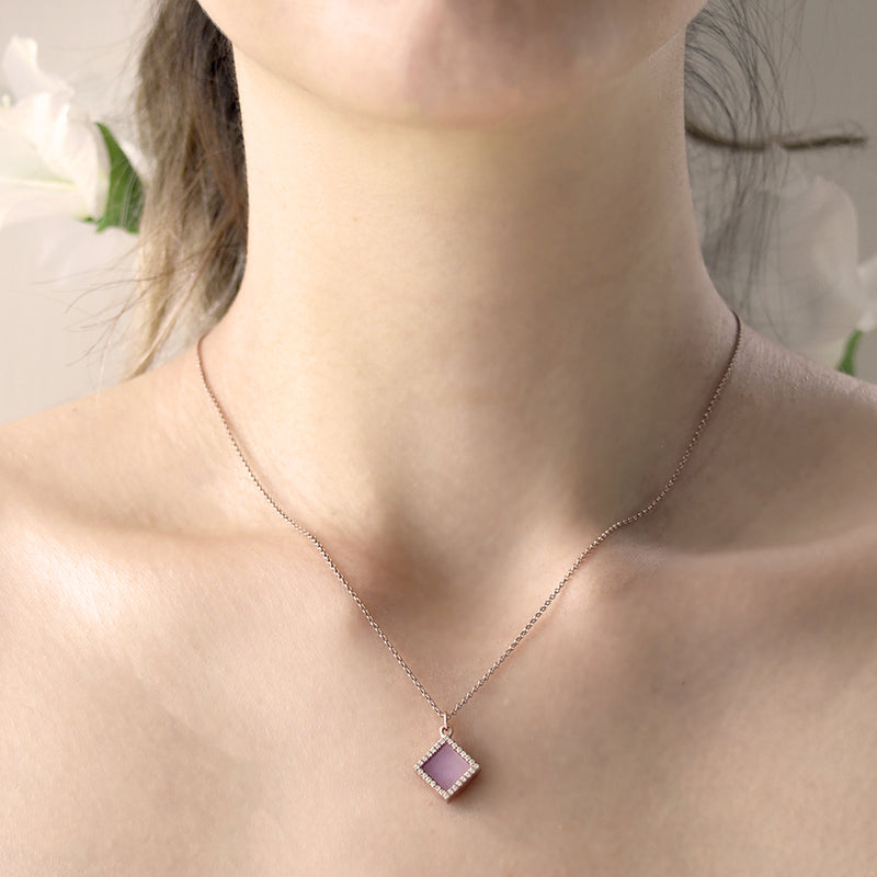 TERRA 方 Necklace in Lavender Jade