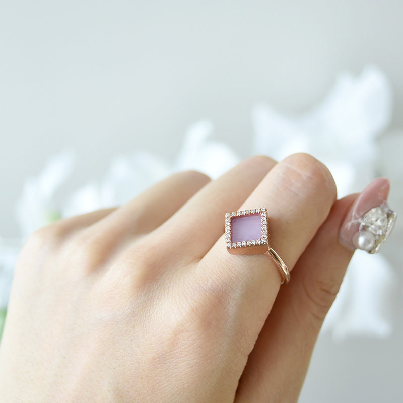 TERRA 方 Ring in Lavender Jade