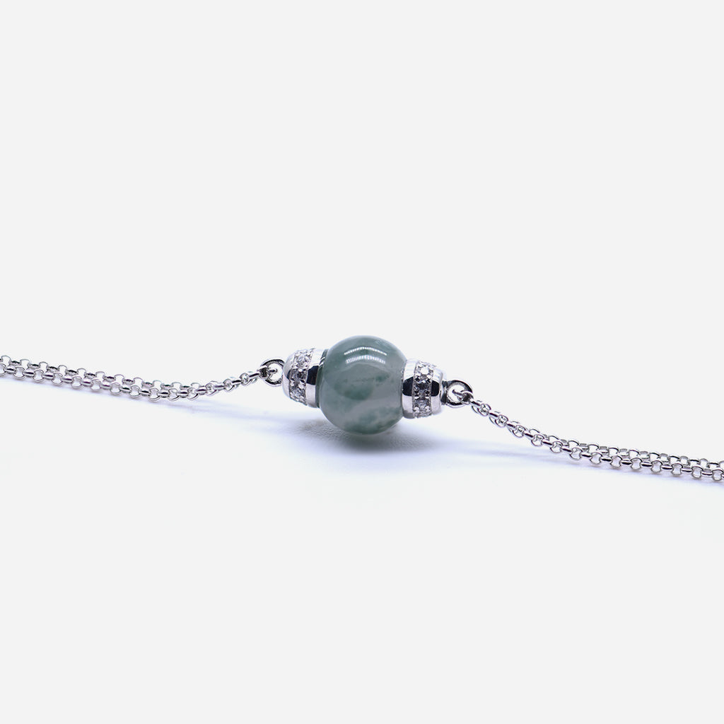 EDEN 悅 Bracelet in Basil Green Jade