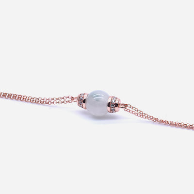 EDEN 悅 Bracelet in White Mist Jade