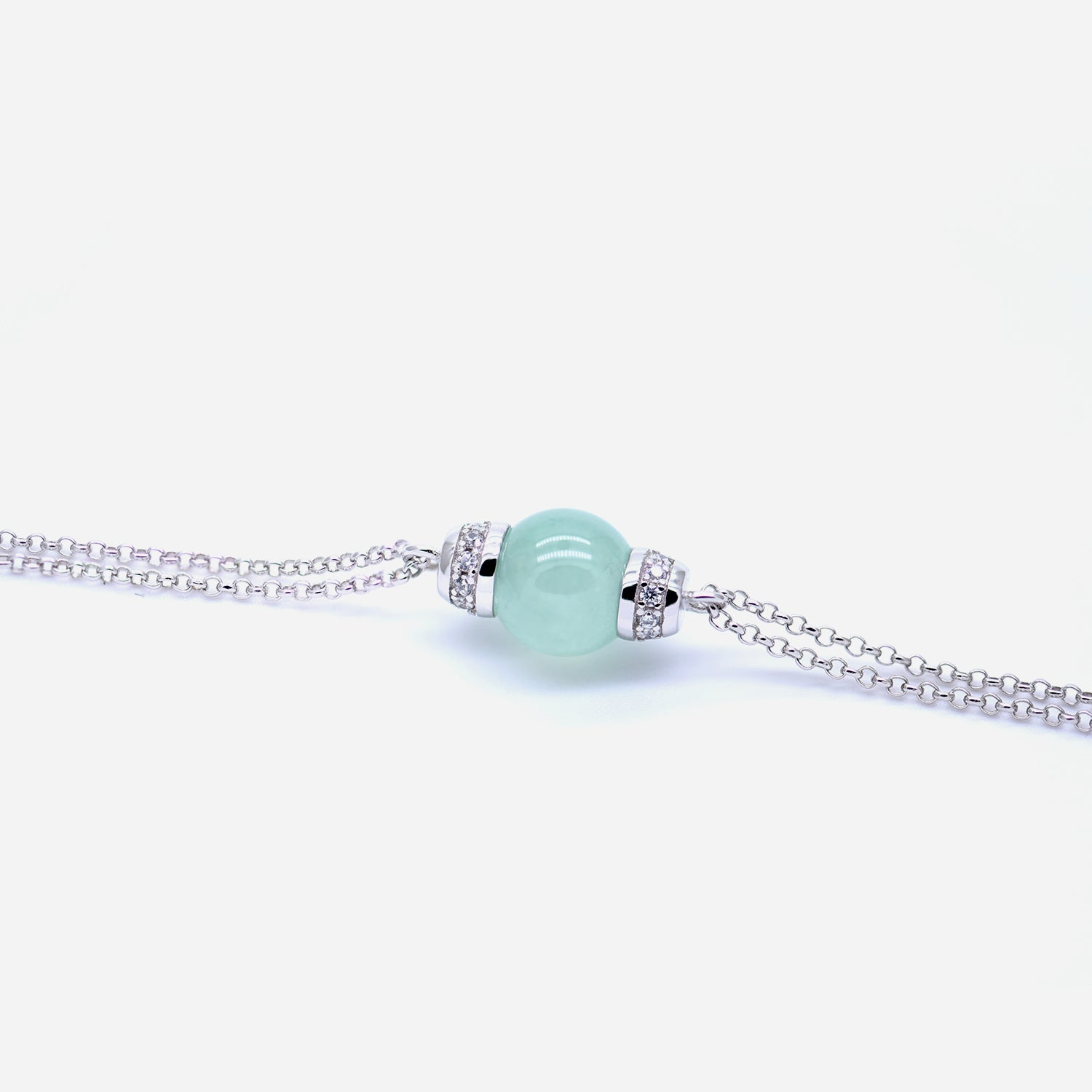 EDEN 悅 Bracelet in Light Green Icy Jade