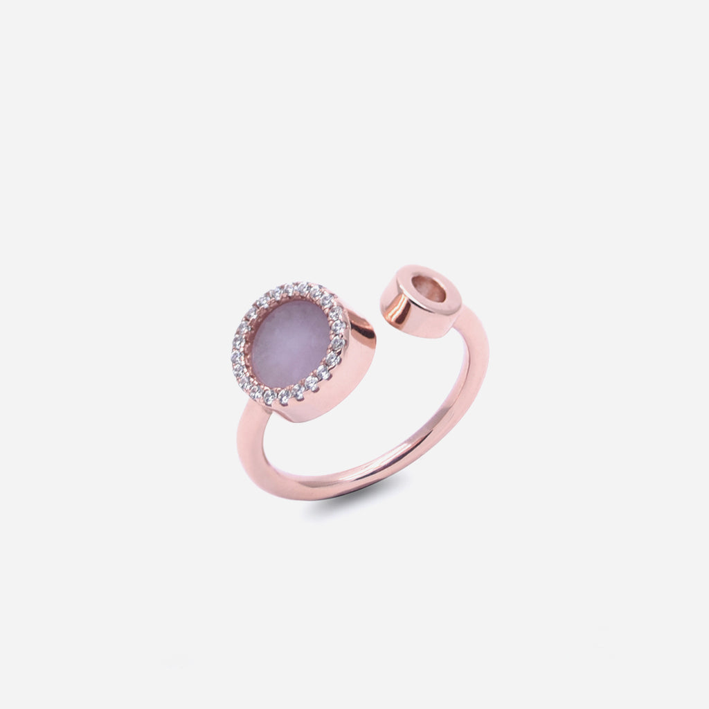 ETERNITY 緣 Open Ring in Lavender Jade