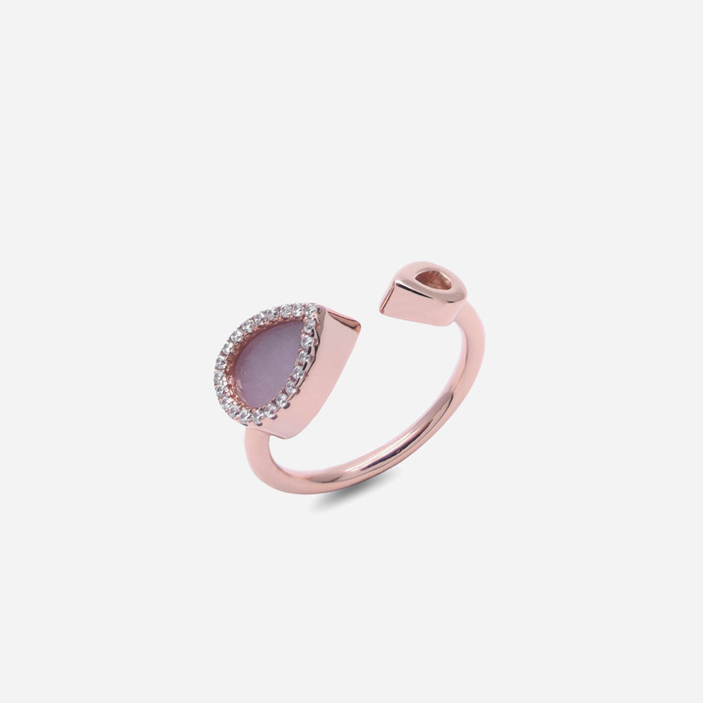 AQUA 水 Open Ring in Lavender Jade