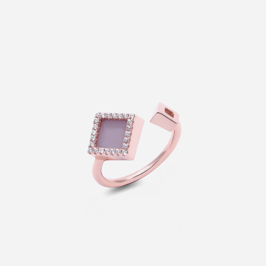 TERRA 方 Open Ring in Lavender Jade