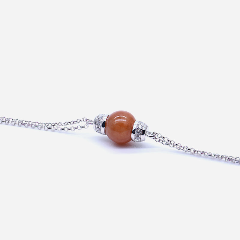 EDEN 悅 Bracelet in Orange Jade