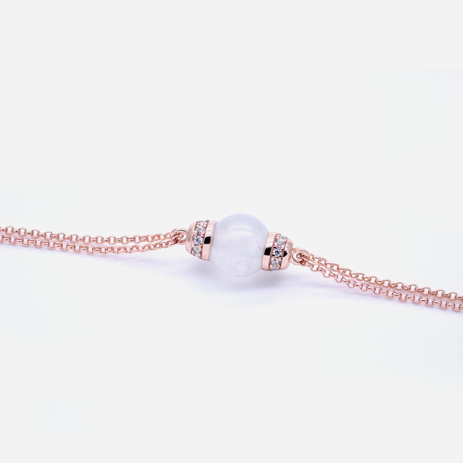 EDEN 悅 Bracelet in Ice White Jade