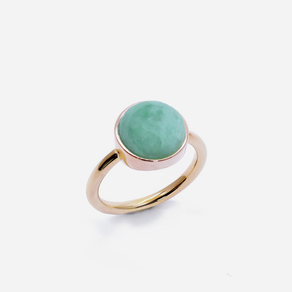 EDEN 悅 Ring in Apple Green Jade