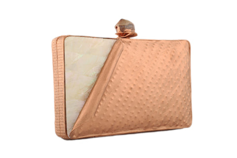 Copper And Multicolored Metal Folded Clutch