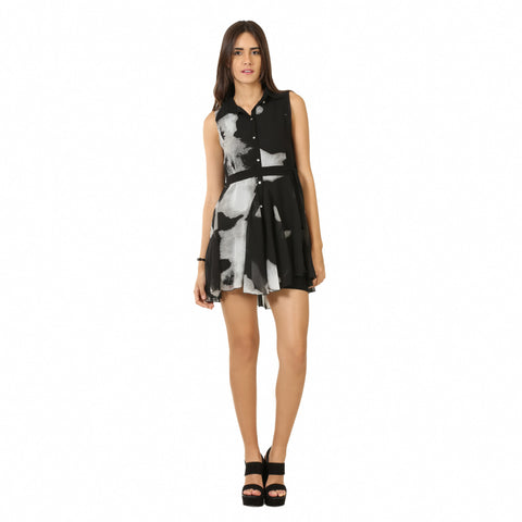 Abstract Printed Dress-1
