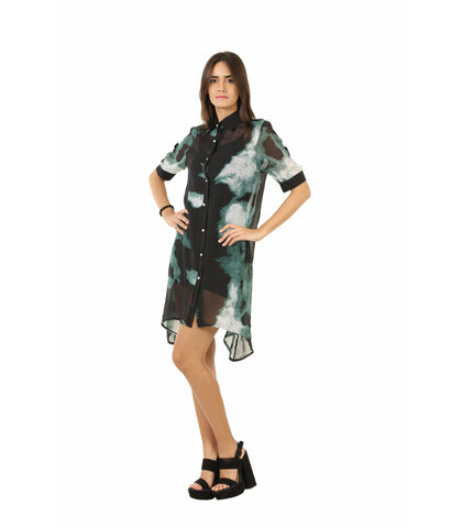 Abstract Printed Dress-10
