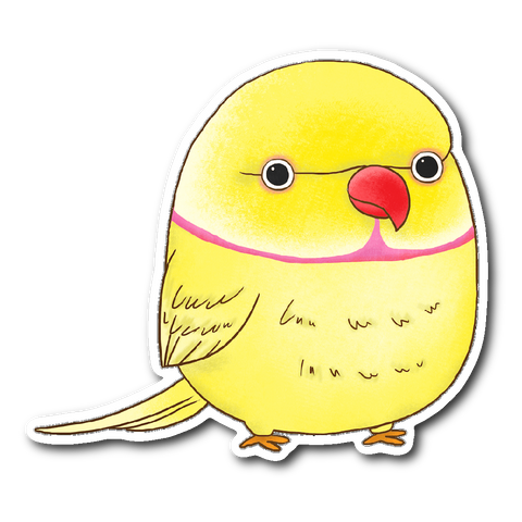 Yellow Ringneck Sticker