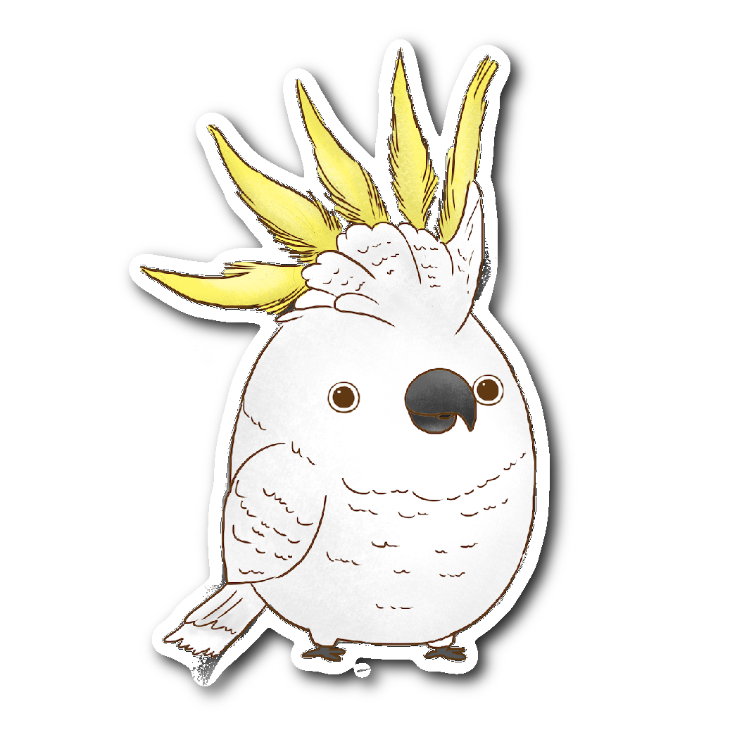 Yellow Crested Cockatoo Sticker