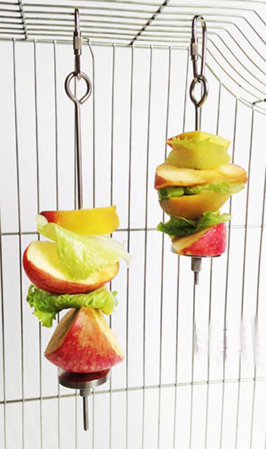 Fruit skewers holding fruit