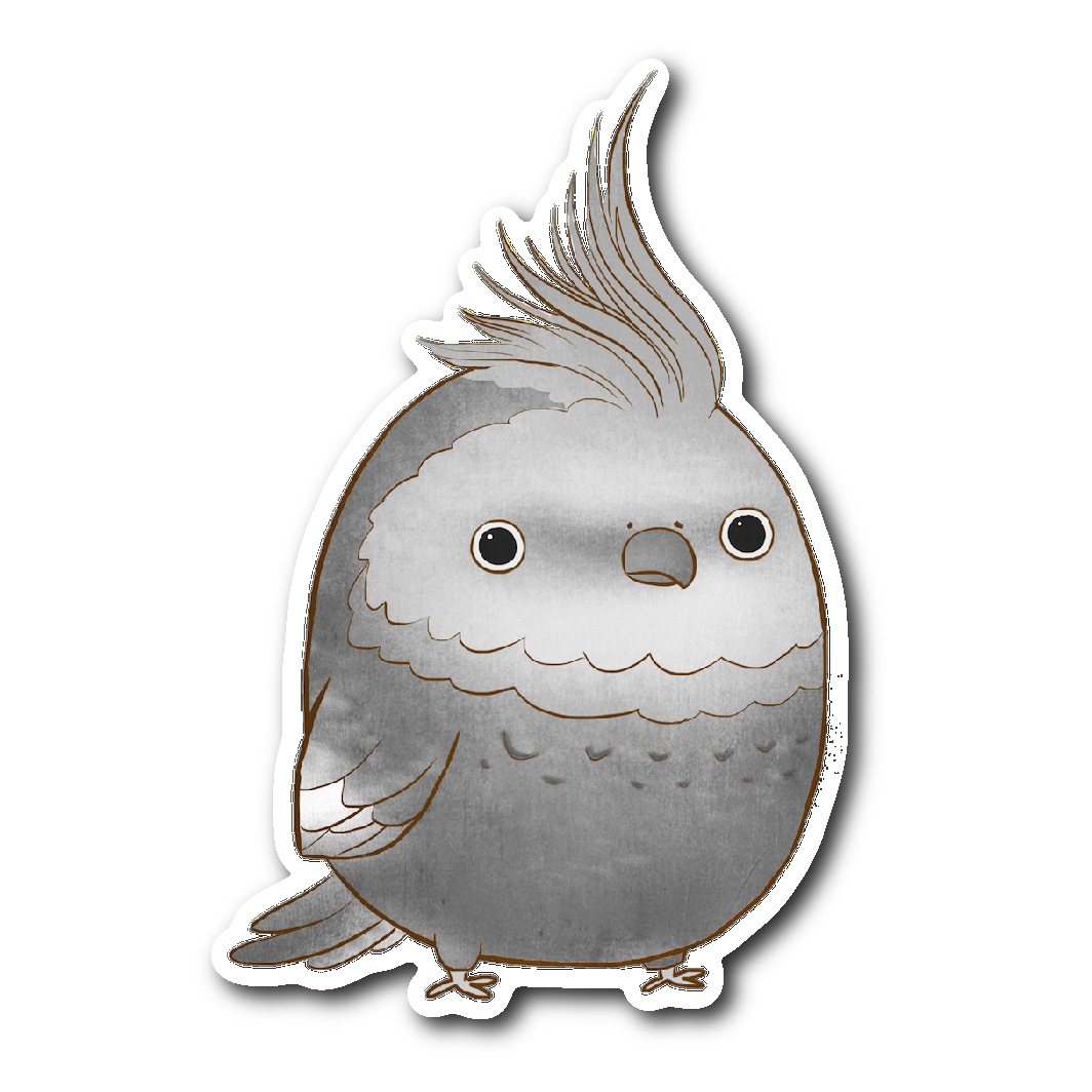 Grey Cockatiel Sticker