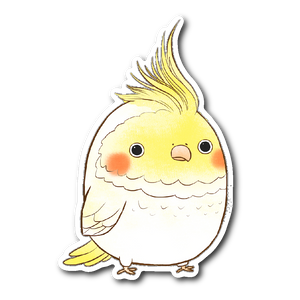 White Cockatiel Sticker