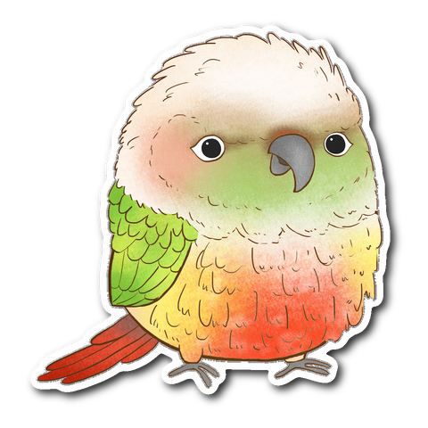 Pineapple Cheek Conure Sticker