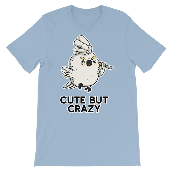 Cute but crazy bird shirt blue