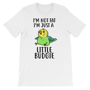 Green Budgie Parakeet shirt White