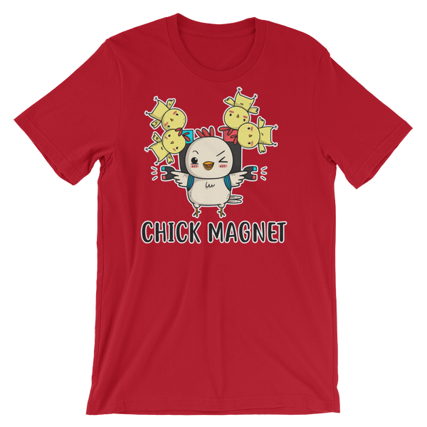 Red Funny Parrot Chick magnet Shirt