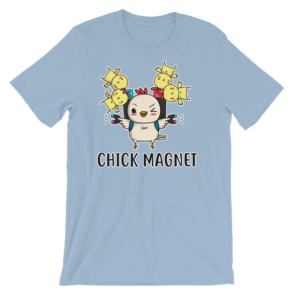 Blue Funny Parrot Chick magnet Shirt