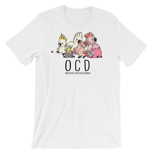 OCD Cockatoo disorder t shirt white