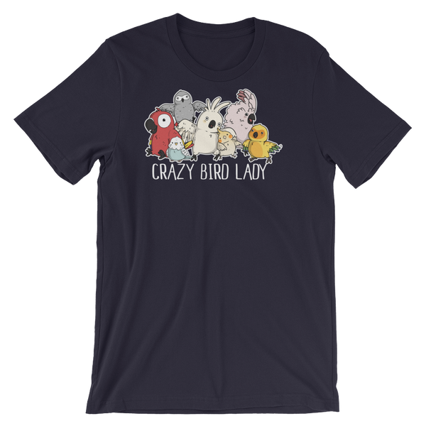 Crazy Bird Lady Shirt Navy