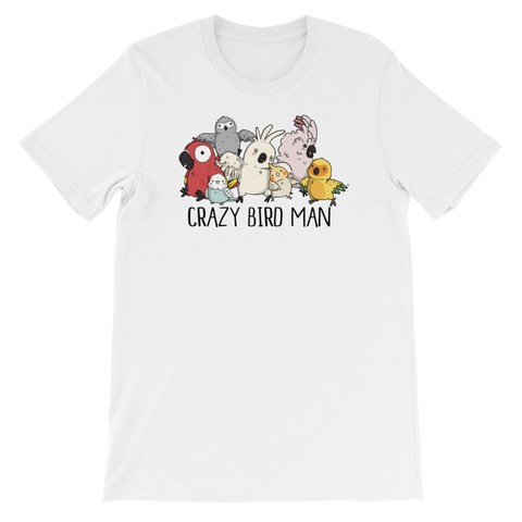 Crazy Bird Man T-shirt