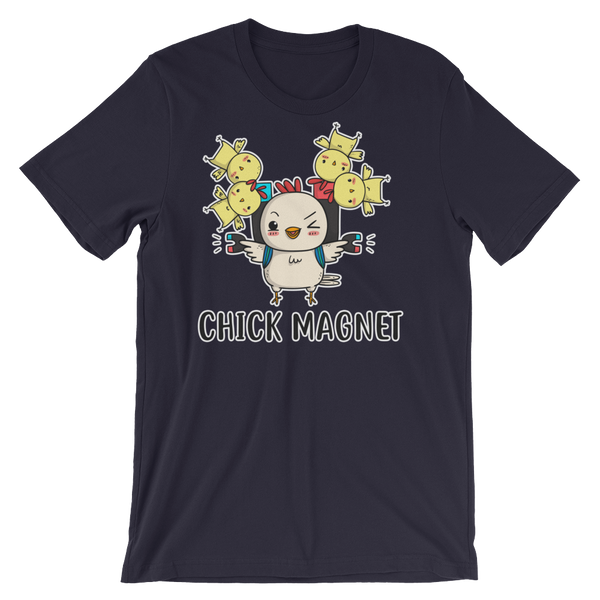 Navy Funny Parrot Chick magnet Shirt