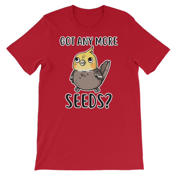Got Any more seeds bird shirt red