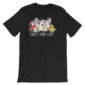 Crazy Bird Lady Shirt Black