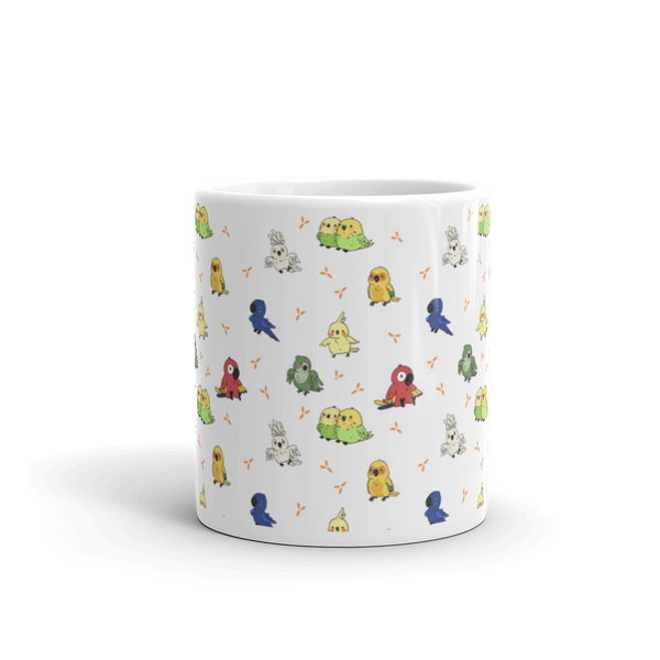Parrot Patterned Coffee Mug