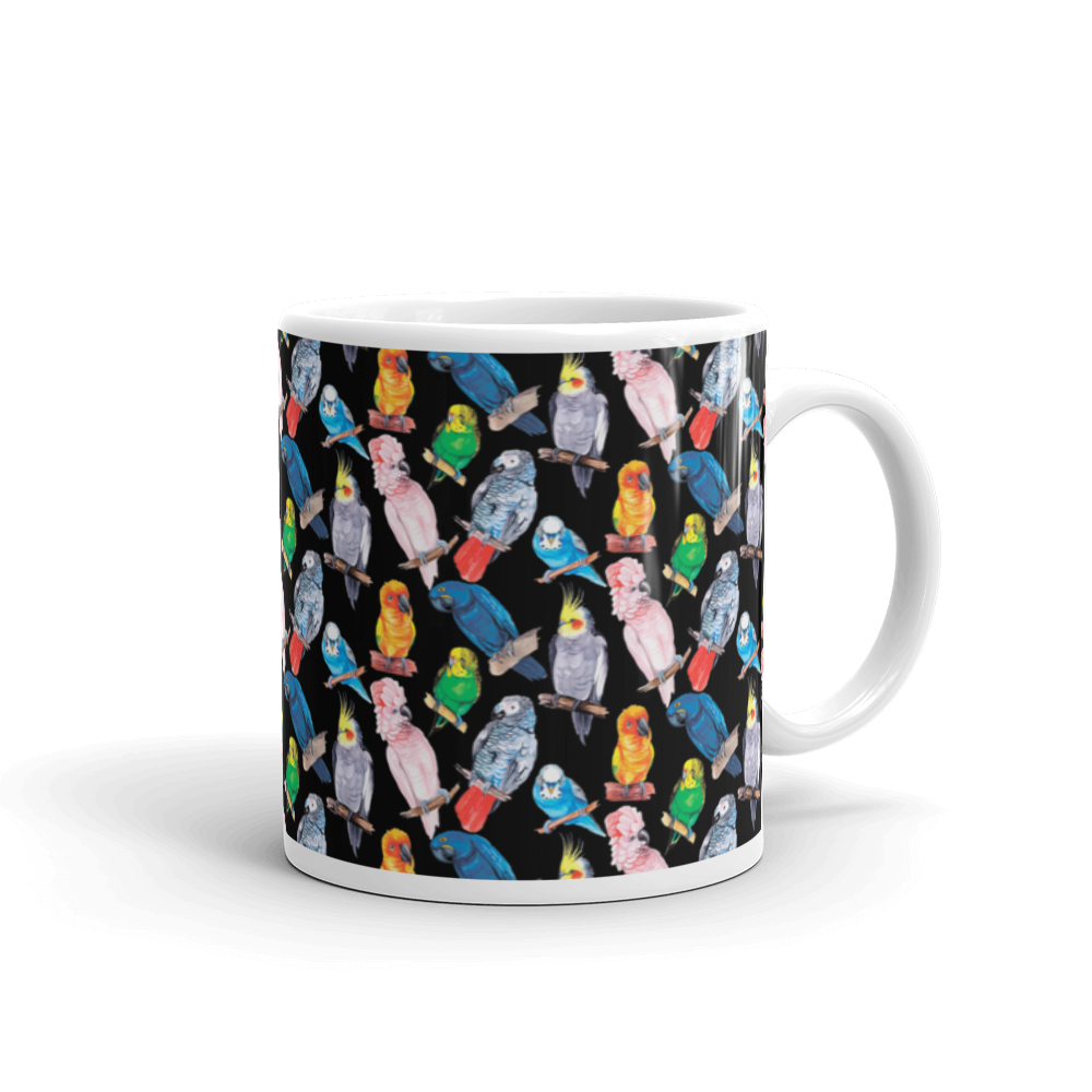 Watercolor Parrot Mug