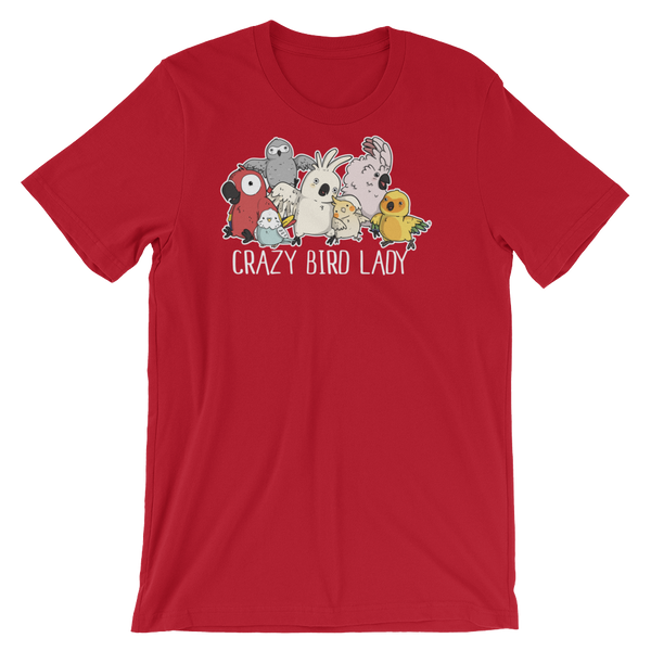 Crazy Bird Lady Shirt Red