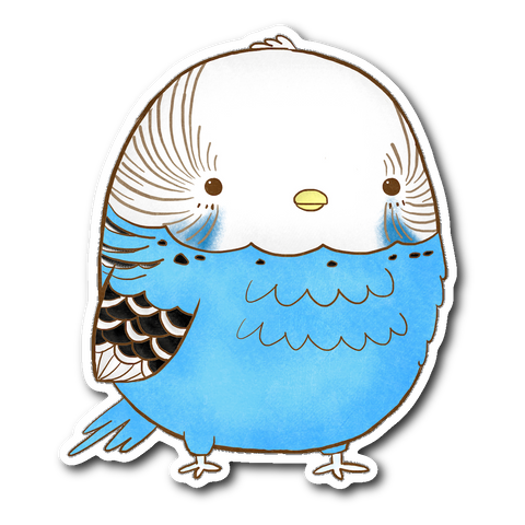 Blue Parakeet Sticker