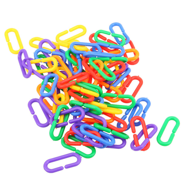Bird toy chain links pile