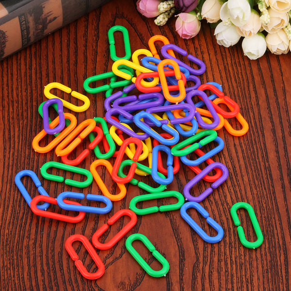 Colorful Chain Links Bird Toy