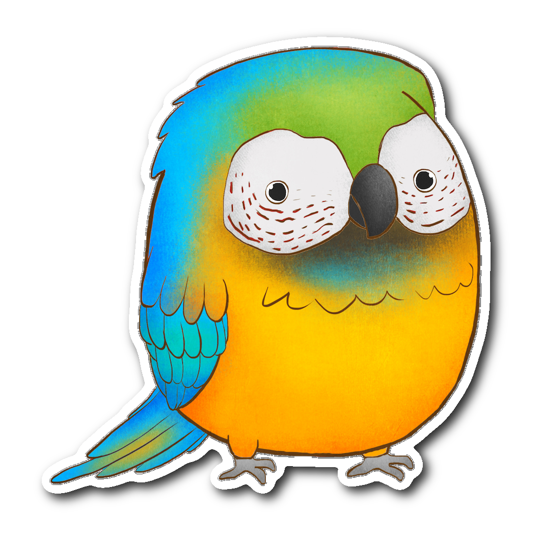Blue Macaw Sticker