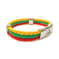 Burmese Flag Leather bracelet [one size] - Nation Love
