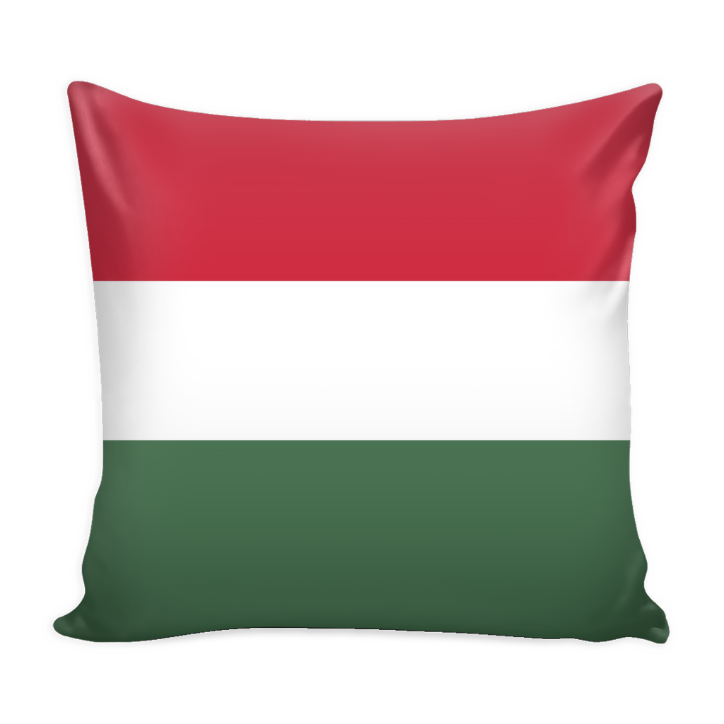 Hungarian Flag Decorative Pillow Case - Nation Love