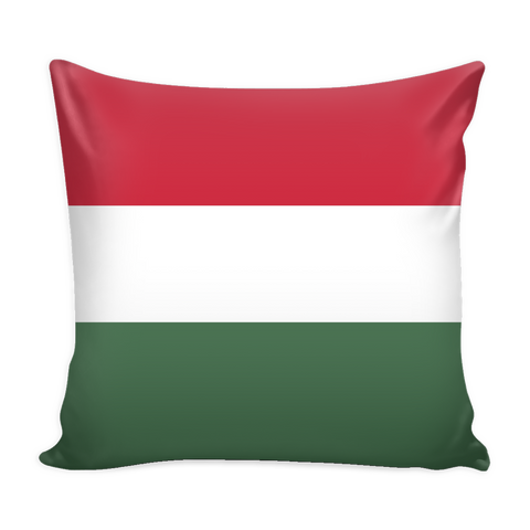 Hungarian Flag Decorative Pillow Case