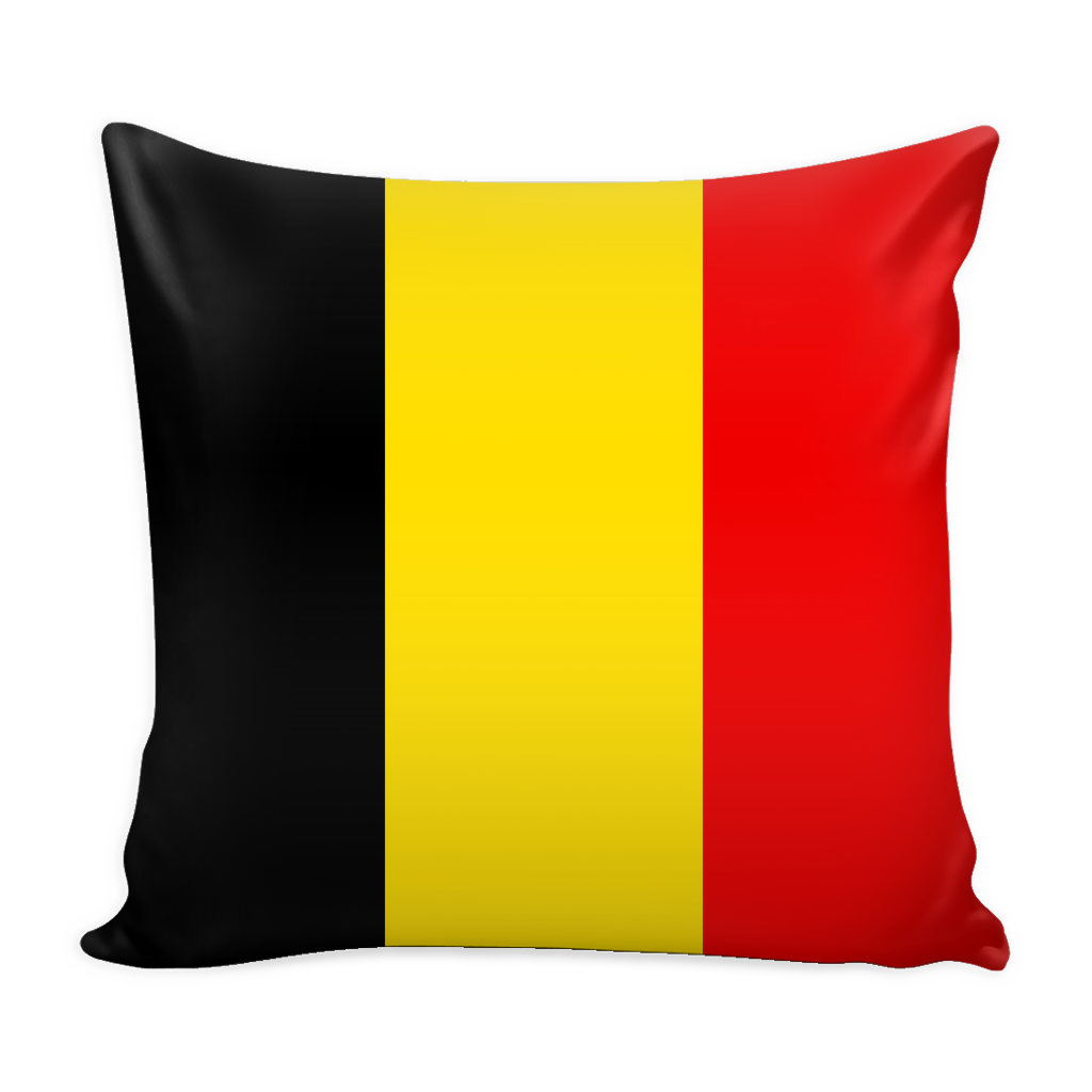 Belgian Flag Decorative Pillow Case - Nation Love