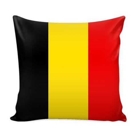 Belgian Flag Decorative Pillow Case