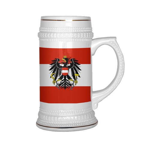 Austrian Coat of Arms 22oz Beer Stein
