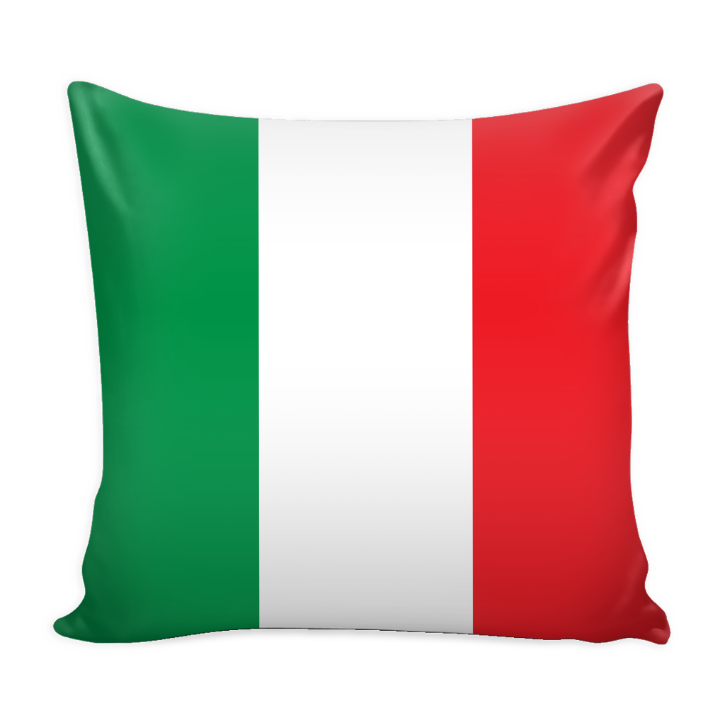 Italian Flag Decorative Pillow Case - Nation Love