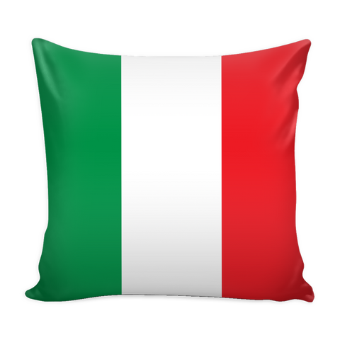Italian Flag Decorative Pillow Case