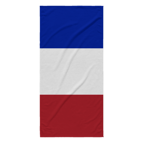 French Flag Beach Towel