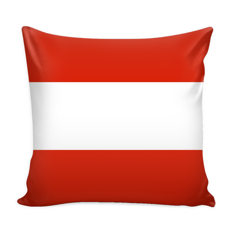 Austrian Flag Decorative Pillow Case